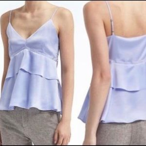 Banana Republic Purple Peplum Cami Petite